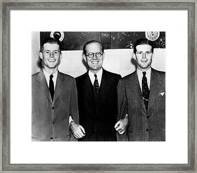 John F., Joseph, Joe Kennedy, Jr., Ca Framed Print by Everett