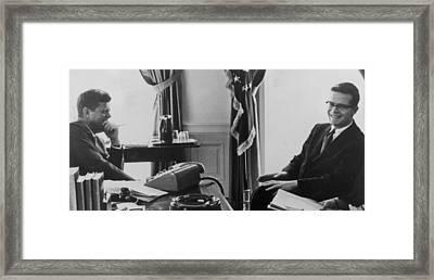 John F. Kennedy 1917-1963 And Theodore Framed Print by Everett