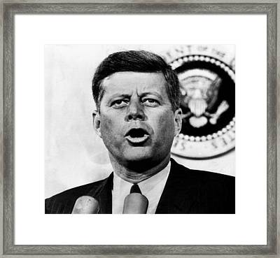 John F. Kennedy, After The Senate Framed Print by Everett