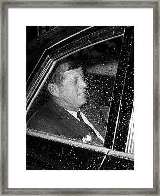 John F. Kennedy, Circa. 1962 Framed Print by Everett