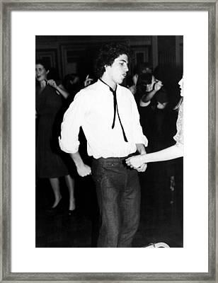 John F. Kennedy Jr, Ca. 1980s Framed Print by Everett