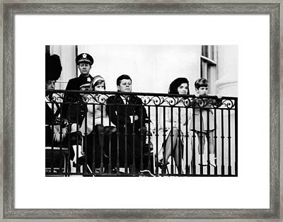 John F. Kennedy Jr. Gets A Closer Look Framed Print by Everett