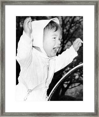 John F. Kennedy Jr. He Stands Framed Print