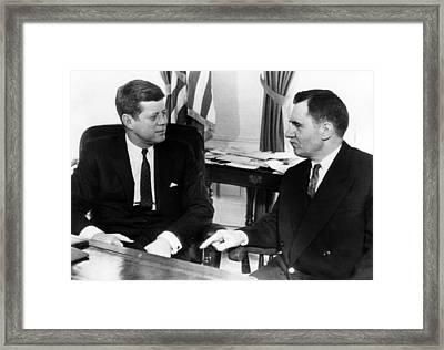 John F. Kennedy, Soviet Foreign Framed Print by Everett