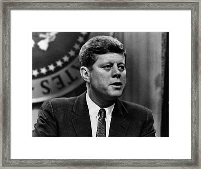 John F. Kennedy, States That The Soviet Framed Print by Everett
