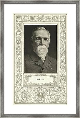John Fritz, American Mechanical Engineer Framed Print