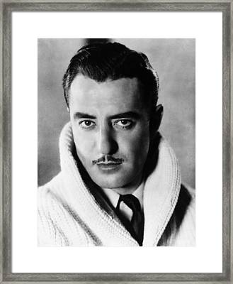 John Gilbert, Ca. Mid-1920s Framed Print by Everett