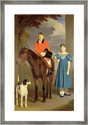 John Gubbins Newton And His Sister Mary Framed Print by Robert Burnard