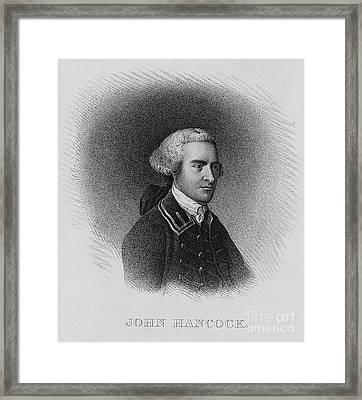 John Hancock, American Patriot Framed Print by Photo Researchers