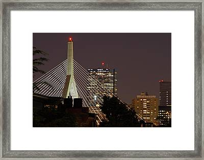 John Hancock Tower And Zakim Bridge Framed Print