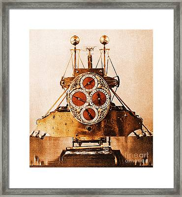 John Harrisons First Sea Clock Framed Print by Photo Researchers