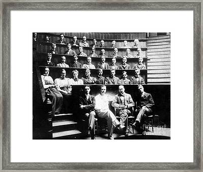 John Hopkins Medical School Framed Print