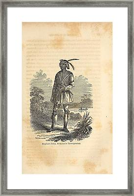 John Horse Was Born In 1812 In Florida Framed Print by Everett