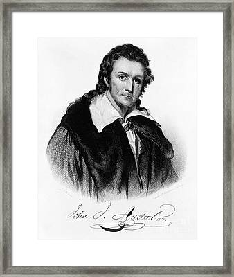 John James Audubon, French-american Framed Print by Photo Researchers, Inc.