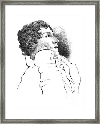 John Keats, English Romantic Poet Framed Print by Photo Researchers