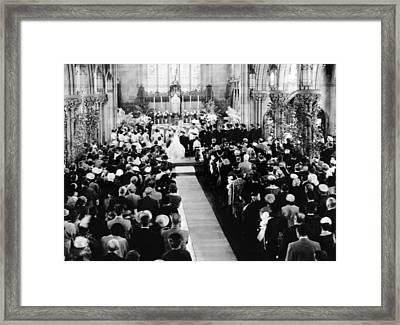 John Kennedy And Jacqueline Bouvier Framed Print by Everett