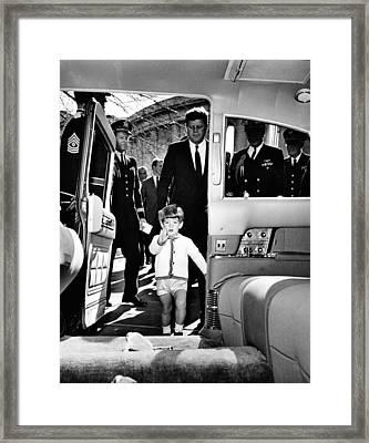 John Kennedy Jr. Enters Framed Print