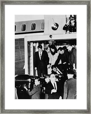 John Kennedys Coffin. Robert Kennedy Framed Print by Everett