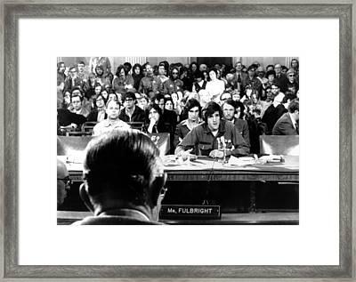 John Kerry Giving Testimony Framed Print by Everett