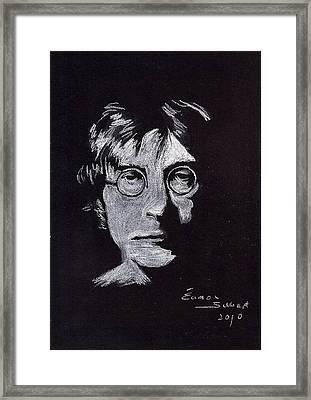 John Lennon Framed Print by Eamon Gilbert