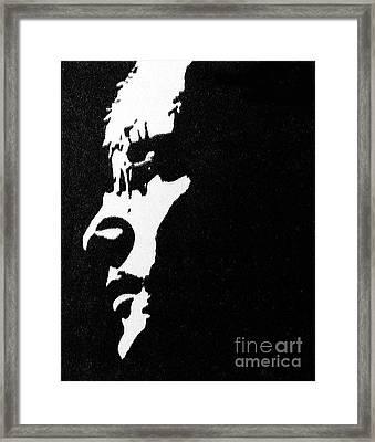 John Lennon Hi Contrast Framed Print by Kenneth Regan