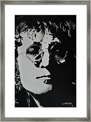 John Lennon Framed Print by Lisa Masters