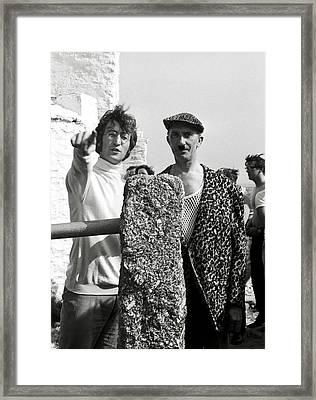John Lennon On Magical Mystery Tour Framed Print by Chris Walter