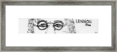 John Lennon Framed Print by Phil Strang