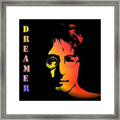 John Lennon Framed Print by Steve K