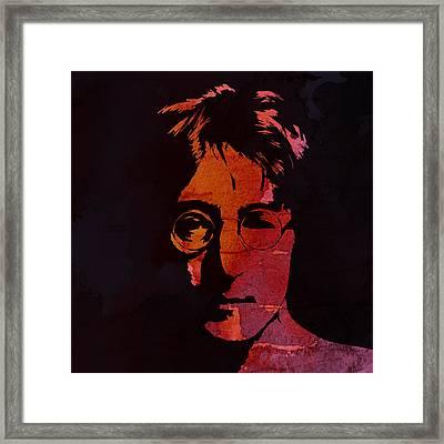 John Lennon Watercolor Framed Print by Steve K