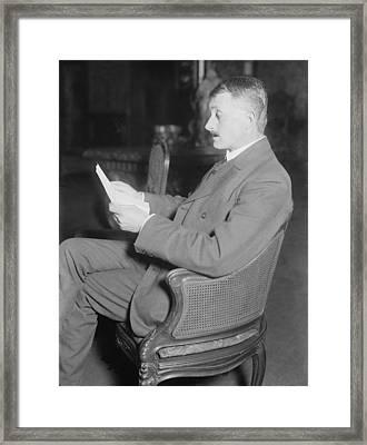 John Masefield 1878-1967, English Poet Framed Print by Everett
