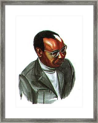 John Mbiti Framed Print by Emmanuel Baliyanga