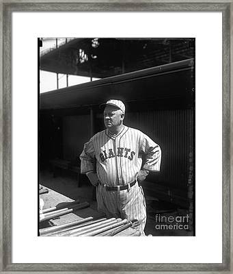 John Mcgraw -  New York Giants Framed Print by David Bearden