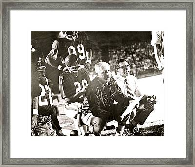 John Mckay On The Sidelines Framed Print
