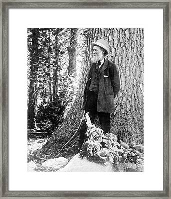 John Muir, Scottish-american Naturalist Framed Print by Photo Researchers