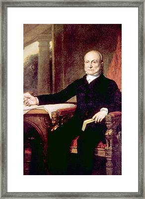 John Quincy Adams 1767-1848, American Framed Print