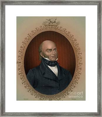 John Quincy Adams, 6th American Framed Print