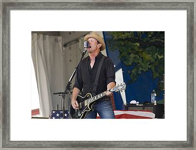 John Thomas Griffith Of Cowboy Mouth Framed Print by Terry Finegan