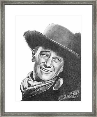John Wayne   Dreamer Framed Print by Marianne NANA Betts