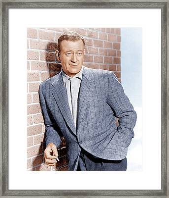John Wayne, Ca. 1955 Framed Print by Everett