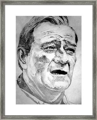 John Wayne - Large Framed Print by Robert Lance