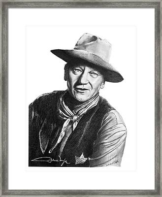 John Wayne  Sheriff Framed Print by Marianne NANA Betts