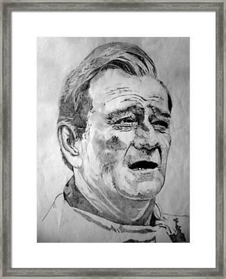 John Wayne - Small Framed Print by Robert Lance