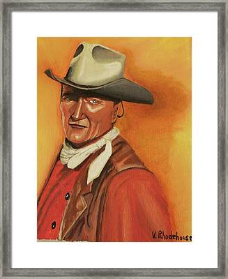 John Wayne Framed Print by Victoria Rhodehouse