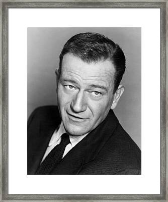 John Wayne, Warner Brothers, 1956 Framed Print by Everett