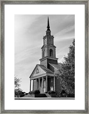 John Wesley Raley Chapel Black And White Framed Print by Ricky Barnard