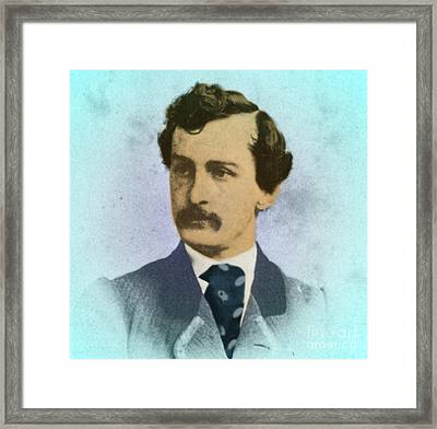 John Wilkes Booth, Assassin Framed Print by Photo Researchers