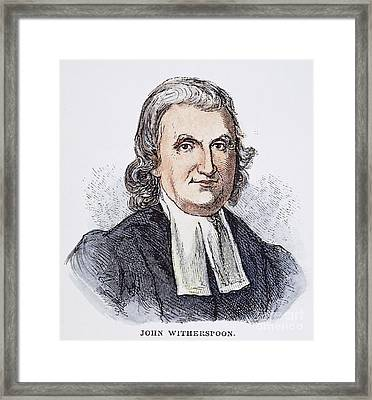 John Witherspoon (1723-94) Framed Print by Granger