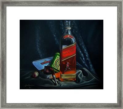 Johnnie Walker  Framed Print by Epifanio jr Mendoza