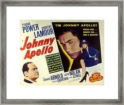 Johnny Apollo, Edward Arnold, Tyrone Framed Print by Everett